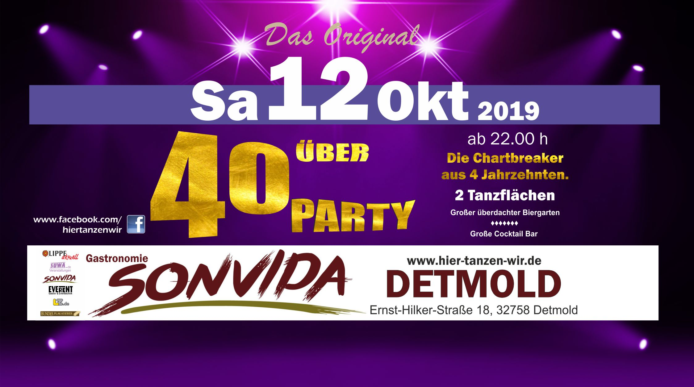 Ü40 Party 12 Okt 2019 SONVIDA Detmold